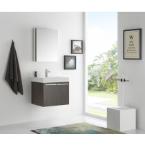 Fresca Alto (single) 22.5-Inch Gray Oak Modern Wall-Mount Bathroom Vanity Set