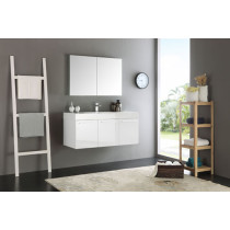 Fresca Vista (single) 47.3-Inch White Modern Wall-Mount Bathroom Vanity Set