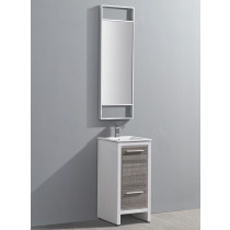 Fresca Allier Rio (single) 15.75-Inch Ash Gray Modern Bathroom Vanity Set