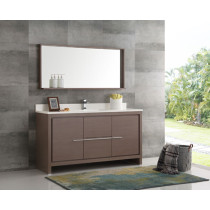 Fresca Allier (single) 60-Inch Gray Oak Modern Bathroom Vanity Set