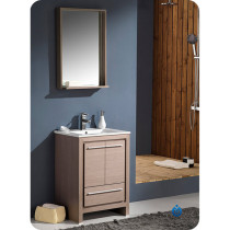 Fresca Allier (single) 24-Inch Gray Oak Modern Bathroom Vanity Set