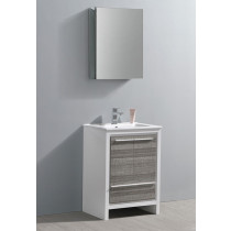 Fresca Allier Rio (single) 24-Inch Ash Gray Modern Bathroom Vanity Set