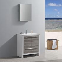 Fresca Allier Rio (single) 30-Inch Ash Gray Modern Bathroom Vanity Set