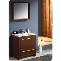 Fresca Allier (single) 30-Inch Wenge Brown Modern Bathroom Vanity Set