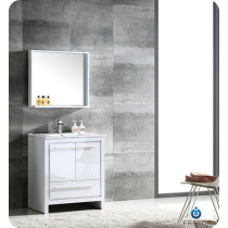 Fresca Allier (single) 30-Inch White Modern Bathroom Vanity Set