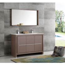 Fresca Allier (double) 47.38-Inch Gray Oak Modern Bathroom Vanity Set