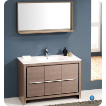 Fresca Allier (single) 47.38-Inch Gray Oak Modern Bathroom Vanity Set
