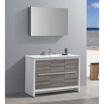 Fresca Allier Rio (single) 47.38-Inch Ash Gray Modern Bathroom Vanity Set