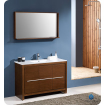 Fresca Allier (single) 47.38-Inch Wenge Brown Modern Bathroom Vanity Set