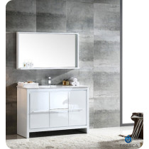 Fresca Allier (single) 47.38-Inch White Modern Bathroom Vanity Set