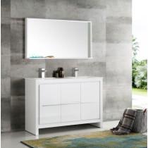 Fresca Allier (double) 47.38-Inch White Modern Bathroom Vanity Set