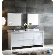 Fresca Allier (double) 72-Inch White Modern Bathroom Vanity Set