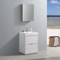 Fresca Valencia (single) 24-Inch Glossy White Modern Bathroom Vanity Set