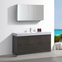 Fresca Valencia (single) 60-Inch Gray Oak Modern Bathroom Vanity Set