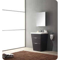 Fresca Milano (single) 25.5-Inch Chestnut Modern Bathroom Vanity Set
