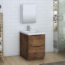 Fresca Tuscany (single) 23.7-Inch Rosewood Modern Bathroom Vanity Set