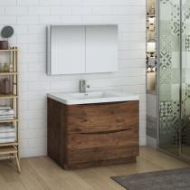 Fresca Tuscany (single) 39.5-Inch Rosewood Modern Bathroom Vanity Set