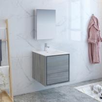 Fresca Catania (single) 23.8-Inch Ocean Gray Modern Wall-Mount Bathroom Vanity Set