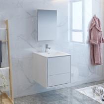 Fresca Catania (single) 23.8-Inch Glossy White Modern Wall-Mount Bathroom Vanity Set