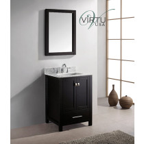 Virtu USA Caroline Avenue (single) 24.8-Inch Espresso Contemporary Bathroom Vanity With Mirror