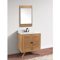 Avanity Harper (single) 31-Inch Natural Teak Vanity Cabinet & Optional Countertops