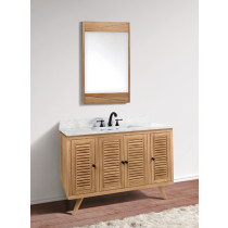 Avanity Harper (single) 49-Inch Natural Teak Vanity Cabinet & Optional Countertops