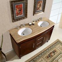 Pompeii (double) 55-Inch Transitional Bathroom Vanity