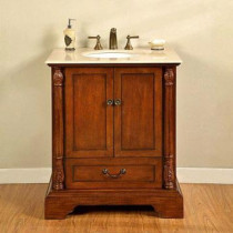 Barcelona (single) 32-Inch Antique Cherry Traditional Bathroom Vanity