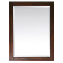 Avanity Madison 28-Inch Tobacco Traditional Bathroom Mirror
