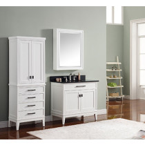 Avanity Madison (single) 37-Inch White Vanity Cabinet & Optional Countertops