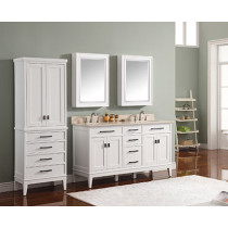 Avanity Madison (double) 61-Inch White Vanity Cabinet & Optional Countertops