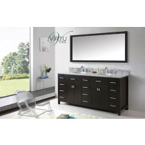 Virtu USA Caroline Parkway (double) 72-Inch Espresso Contemporary Bathroom Vanity with Mirror