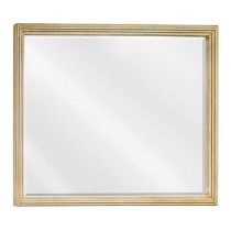 Hardware Resources Compton 44-Inch Buttercream Traditional Bathroom Mirror