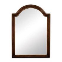 Hardware Resources Compton 26-Inch Walnut Traditional Bathroom Mirror