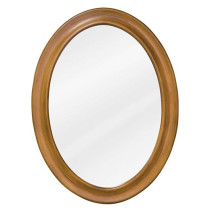 Hardware Resources Clairemont 23.75-Inch Caramel Traditional Bathroom Mirror