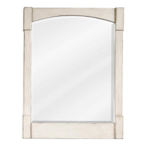 Hardware Resources Concord Contemporary (single) 26-Inch French White Transitional Bathroom Mirror