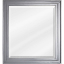 Hardware Resource Jensen 22-Inch Grey Traditional Bathroom Mirror