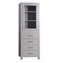 Avanity Modero 24-Inch Chilled Gray Traditional Bathroom Tall Linen Side Cabinet