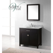 Virtu USA Caroline (single) 36.8-Inch Espresso Transitional Bathroom Vanity Set