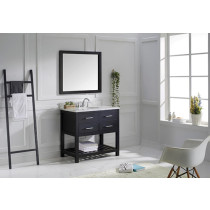 Virtu USA Caroline Estate (single) 36.8-Inch Espresso Transitional Bathroom Vanity Set