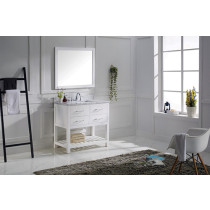 Virtu USA Caroline Estate (single) 36.8-Inch White Transitional Bathroom Vanity Set