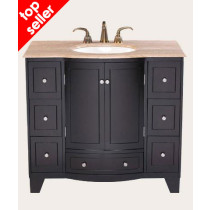 Roma (single) 40-Inch Espresso Bathroom Vanity