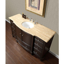 Sandstone (single) 60-Inch Transitional Bathroom Vanity