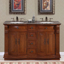 Tansy (double) 55-Inch Traditional Bathroom Vanity