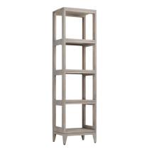 Avanity Teak 16-Inch Gray Teak Modern Bathroom Tall Linen Tower