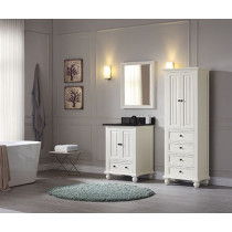 Avanity Thompson (single) 25-Inch French White Vanity Cabinet & Optional Countertops