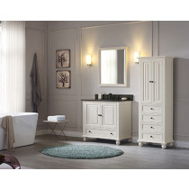 Avanity Thompson (single) 37-Inch French White Vanity Cabinet & Optional Countertops