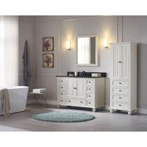 Avanity Thompson (single) 49-Inch French White Vanity Cabinet & Optional Countertops