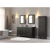 Avanity Thompson (double) 61-Inch Charcoal Glaze Vanity Cabinet & Optional Countertops