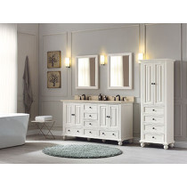 Avanity Thompson (double) 61-Inch French White Vanity Cabinet & Optional Countertops